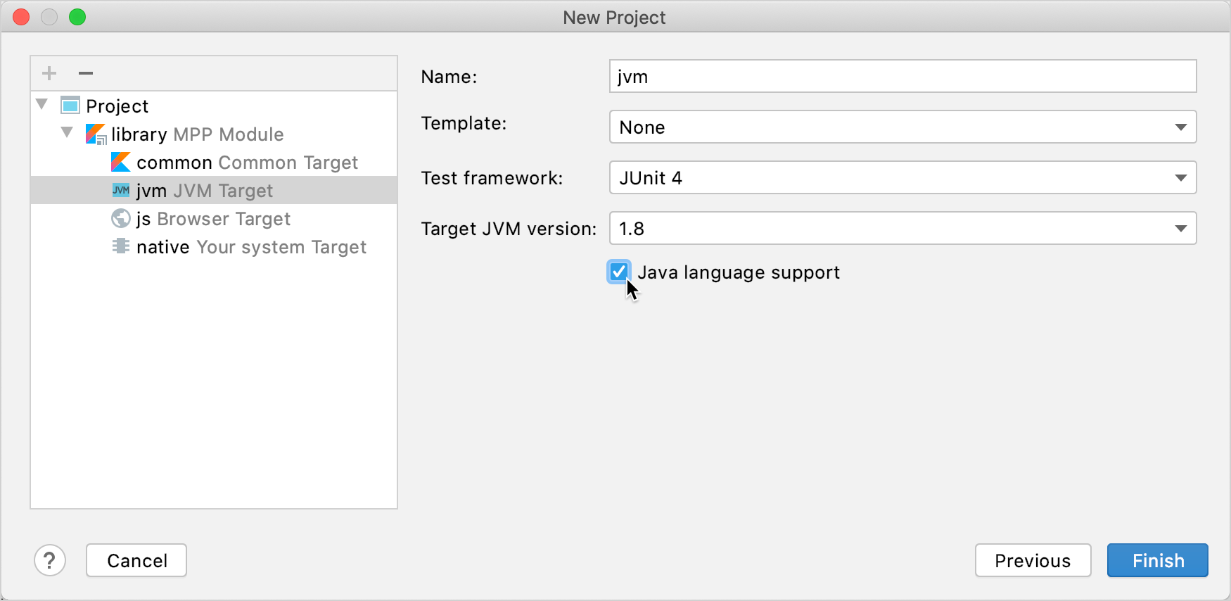 Enable Java language support